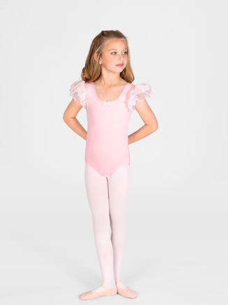 Girls Double Flutter Sleeve Dance Leotard - Style No AAD110C