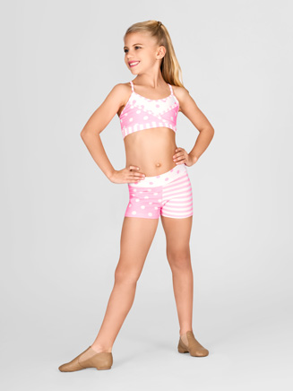 Child Contrast Waist Booty Short - Style No AAD120C