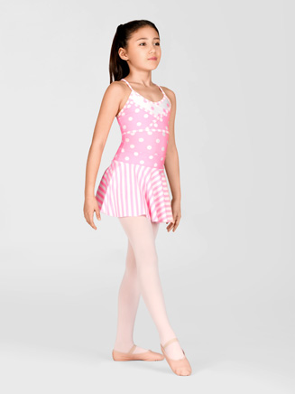 Child Polka Dot Camisole Leotard - Style No AAD123C