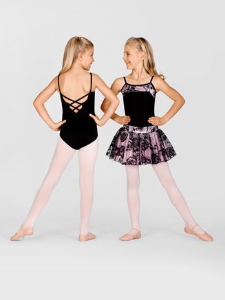 Child Floral Camisole Leotard - Style No AAD124C