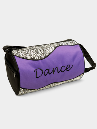Silver Sizzle Duffle Dance Bag in Purple - Style No B420PU