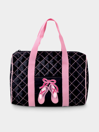 Quilted En Pointe Dance Bag in Black - Style No B551
