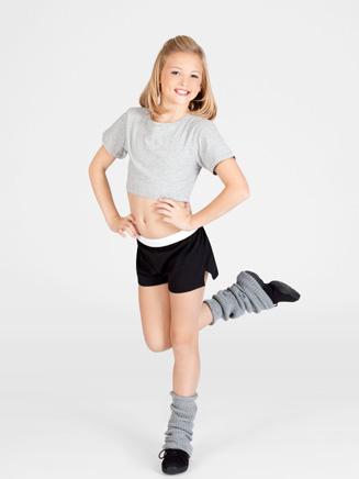Natalie Child Short Sleeve Oversized Crop Top