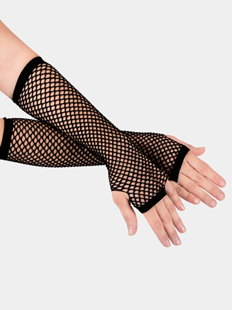 All About Dance Long Fishnet Gloves