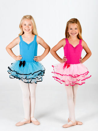 Child Three Layer Tutu Skirt with Ribbon Edge - Style No C28281