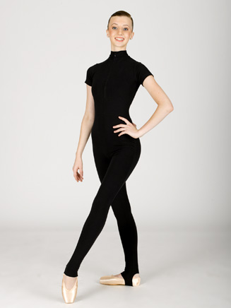 Adult Mock Turtleneck Short Sleeve Unitard - Style No C810C