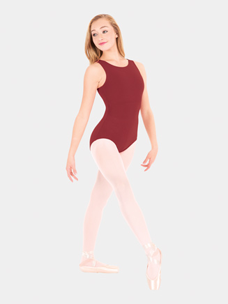 Adult High Neck Tank Dance Leotard - Style No CC201