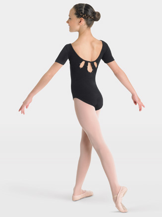 Child Diamante Short Sleeve Leotard - Style No CL3762