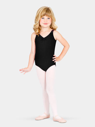 Girls Gathered Tank Dance Leotard - Style No CL5435