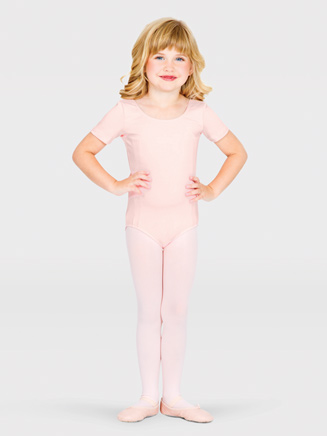 Girls Scoop Back Cap Sleeve Dance Leotard - Style No CL5462