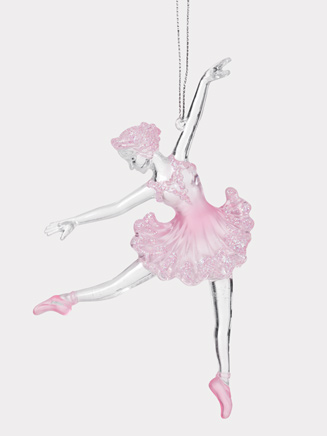 Pink and Clear Ballerina Ornament - Style No D1492