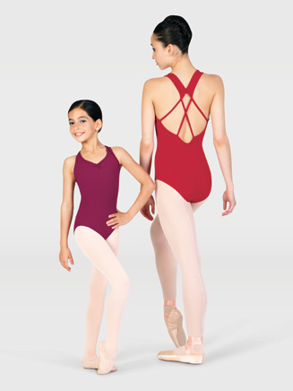 Child Strappy Back Tank Leotard - Style No D151