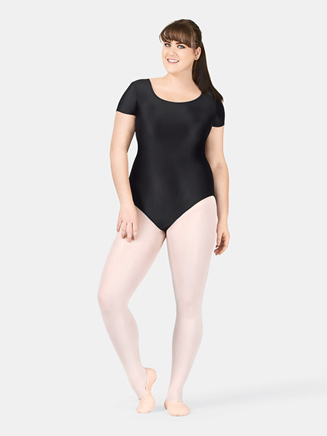 Adult Plus Size Short Sleeve Dance Leotard - Style No D5102W