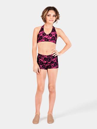 Child V Waist Lace Overlay Shorts - Style No DA512C