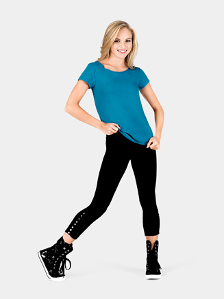 Rhinestone Crop  Dance Tight/Legging - Style No DAN01