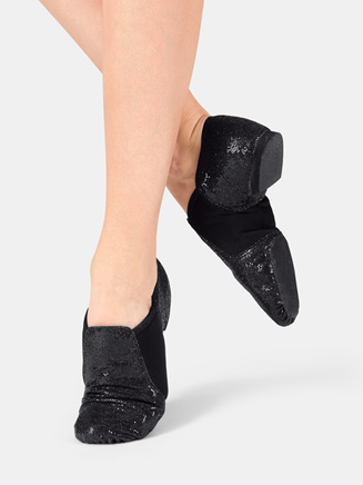 Girls Glitter Jazz Shoe - Style No DAZZLEC