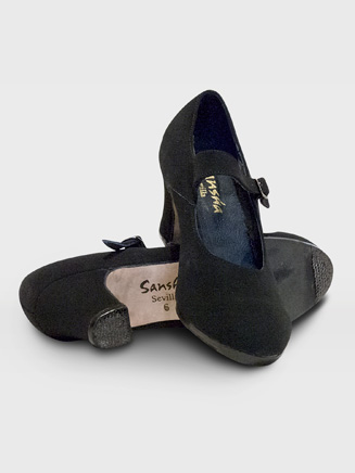 """Sevilla"" Adult Suede Flamenco Shoe - Style No FL1S"