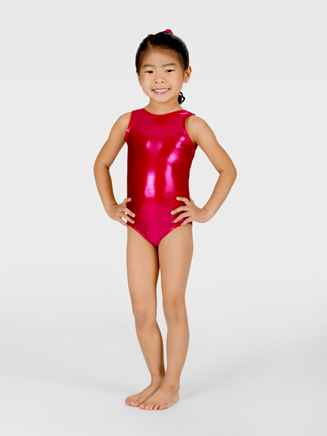 Child Metallic Gymnastic Tank Leotard - Style No G500C