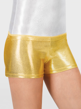 Adult Metallic Gymnastic Short - Style No G502