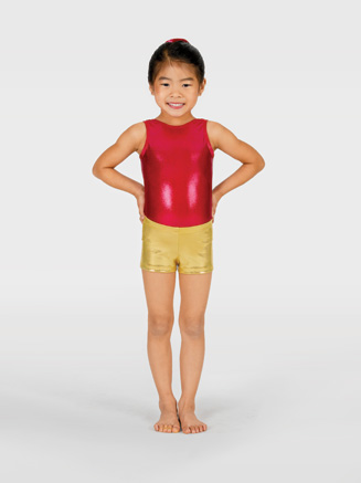 Child Metallic Gymnastic Short - Style No G502C