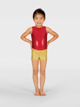 Perfect Balance Child Metallic Gymnastic Short