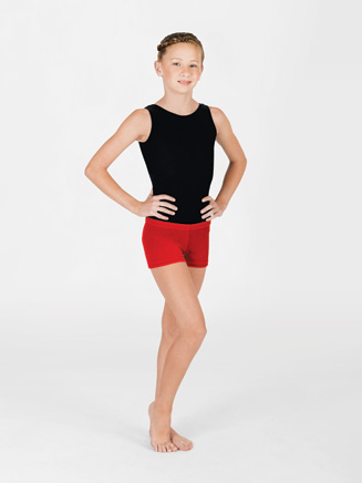 Child Velvet Gymnastic Short - Style No G507C