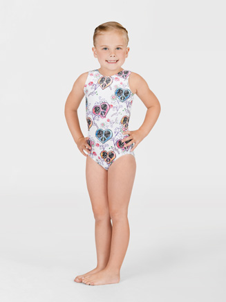 Child Hearts & Flowers  Gymnastic Tank Leotard - Style No G508C