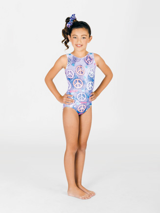 Child Sublimated Glitter Tank Leotard - Style No G509C