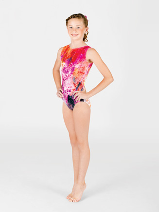 Child Sublimated High Neck Tank Leotard - Style No G510C