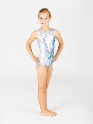 Child Sublimated Confetti Gymnastic Leotard - Style No G511C