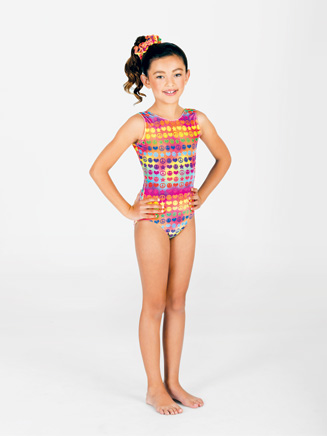 Child Groovy Gymnastic Tank Leotard - Style No G512C