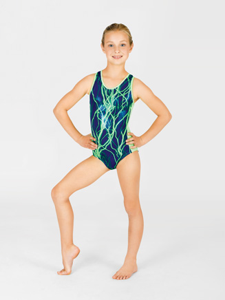 Child Electricity Gymnastic Tank Leotard - Style No G513C