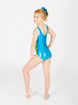 Child Color Block Gymnastic Tank Leotard - Style No G522C