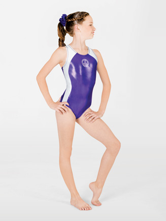 Child Peace Sign Gymnastic Scoop Neck Leotard - Style No G524C