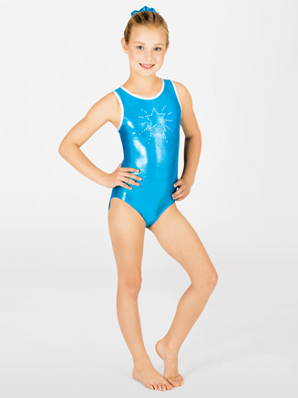 Child Star Gymnastic High Neck Tank Leotard - Style No G525C