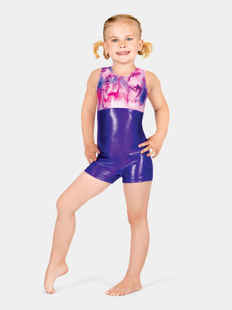 Child Two-Tone Gymnastic Biketard - Style No G529C