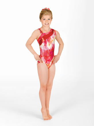 Child One Shoulder Gymnastic Leotard - Style No G531C