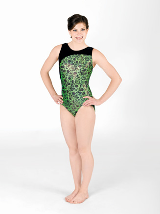 Adult Asymmetrical Gymnastic Boat Neck Leotard - Style No G536