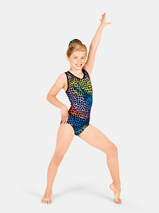 Child Animal Tie Dye Gymnastic Tank Leotard - Style No G538C