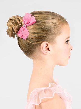 Rhinestone Embellished Hair Bow - Style No GB