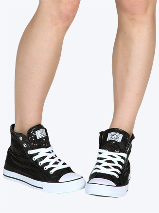 Gotta Flurt Sequin High Top Sneaker
