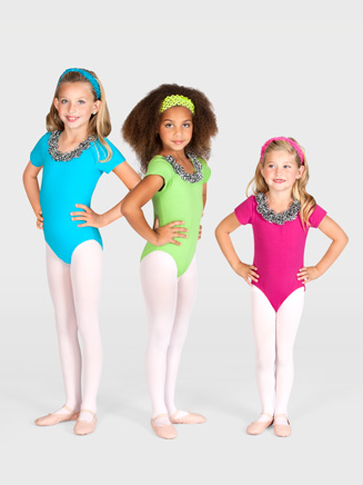 Child Zebra Rose Leotard - Style No L2766