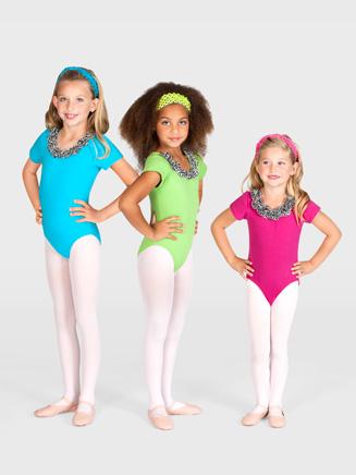 Child Zebra Rose Leotard - Style No L2766