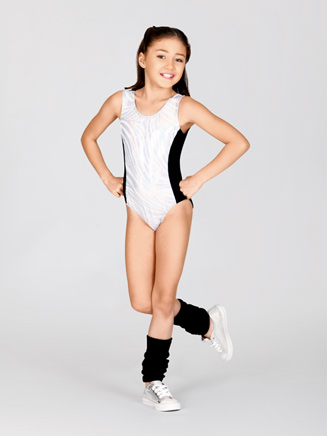 Child Metallic Tank Leotard - Style No L2993