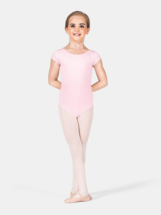 Girls Cap Sleeve Leotard with Bow Back - Style No M2154C