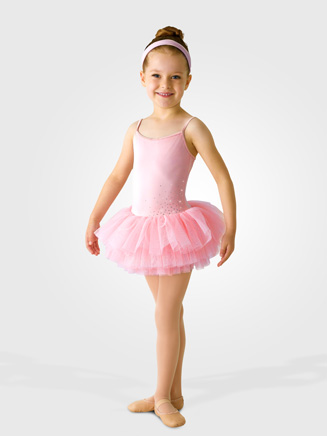 Mirella Child Diamante Sparkle Tutu Dress