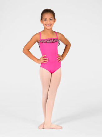 Child Ruffle Trim Camisole Leotard - Style No M2584C