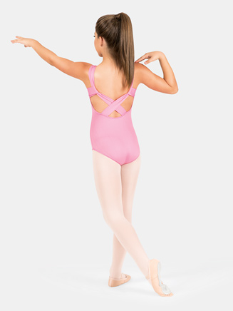 Child Pinch Front X-Back Tank Leotard - Style No M2664C