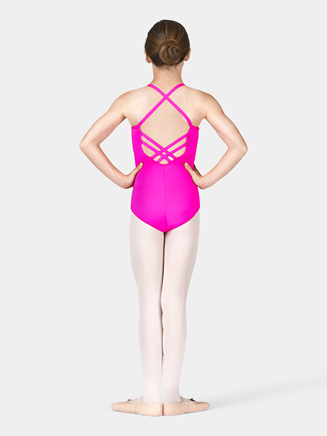 Girls Camisole Leotard with Lattice Back - Style No M2680C