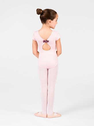 Child Keyhole Back Cap Sleeve Leotard - Style No M4558C